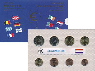 Изображение Подарочные монеты Люксембург Евронабор 2002 2002  UNC Представляем Вашему
