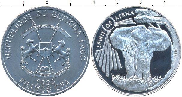 Картинка Подарочные монеты Буркина Фасо 1.000 франков Серебро 2016