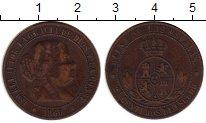 Изображение Монеты Испания 2 1/2 сентимо 1866 Медь XF