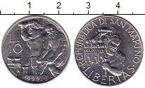 Изображение Монеты Сан-Марино 10 лир 1994 Алюминий UNC