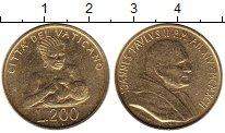 Изображение Монеты Ватикан 200 лир 1992 Латунь UNC