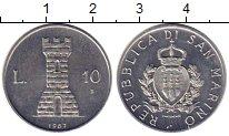 Изображение Монеты Сан-Марино 10 лир 1987 Алюминий UNC