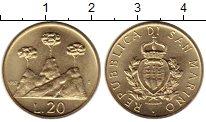 Изображение Монеты Сан-Марино 20 лир 1987 Латунь UNC