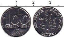Изображение Монеты Сан-Марино 100 лир 1991 Медно-никель UNC