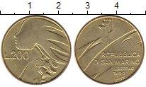 Изображение Монеты Сан-Марино 200 лир 1990 Латунь UNC