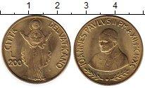 Изображение Монеты Ватикан 200 лир 1990 Латунь UNC