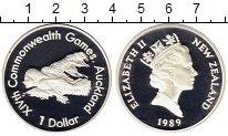 Изображение Монеты Новая Зеландия 1 доллар 1989 Серебро Proof-