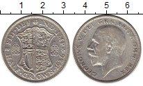 Изображение Монеты Великобритания 1/2 кроны 1936 Серебро VF