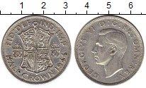 Изображение Монеты Великобритания 1/2 кроны 1944 Серебро VF