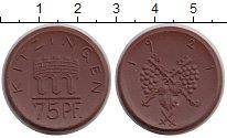 Монета Германия : Нотгельды 75 пфеннигов Фарфор 1921 UNC фото