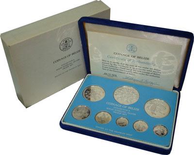 Изображение Подарочные монеты Белиз Монеты 1978 года в качестве proof 1978 Серебро Proof Представляем Вам пам