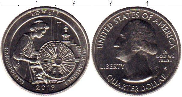 Картинка Мелочь США 1/4 доллара Медно-никель 2019