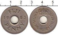 Изображение Монеты Фиджи 1 пенни 1963 Медно-никель XF