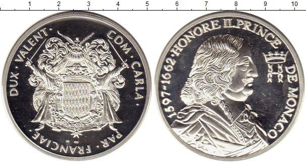 Картинка Монеты Монако Медаль Серебро 0
