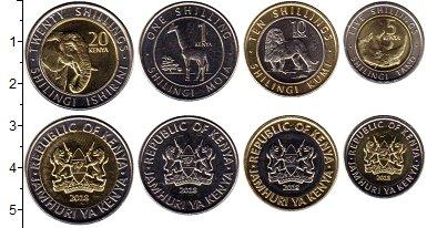 Изображение Наборы монет Кения Набор 2018 года 2018 Биметалл UNC В наборе 4 монет ном