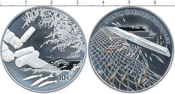 Картинка Подарочные монеты Литва 10 евро Серебро 2019