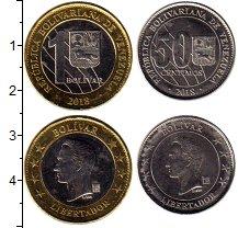 Изображение Наборы монет Венесуэла Набор 2018 года 2018  UNC В наборе 2 монет ном