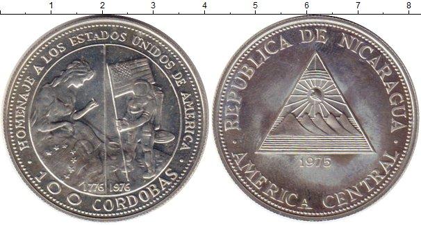Картинка Монеты Никарагуа 100 кордоб Серебро 1975