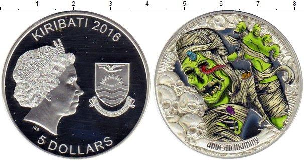 Картинка Монеты Кирибати 5 долларов Серебро 2016