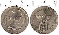Изображение Монеты Турция 1000 лир 1990 Медно-никель UNC-