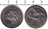 Изображение Монеты Литва 1 1/2 евро 2017 Медно-никель UNC