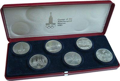 Изображение Подарочные монеты СССР Олимпиада 80 0 Медно-никель UNC Подарочный набор пос