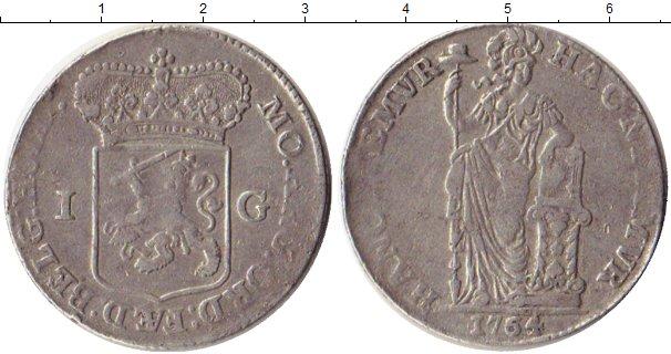 Картинка Монеты Голландия 1 гульден Серебро 1764