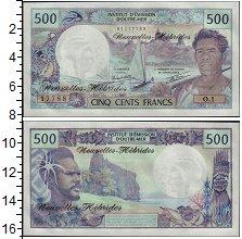 Банкнота Новые Гебриды 500 франков 1979 UNC фото