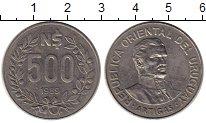 Изображение Монеты Уругвай 500 песо 1989 Медно-никель XF