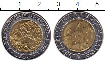 Изображение Монеты Сан-Марино 500 лир 1992 Биметалл XF