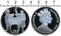 Изображение Монеты Барбадос 10 долларов 1992 Серебро Proof-