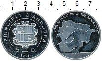 Изображение Монеты Андорра 5 динерс 2012 Серебро Proof-