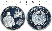 Изображение Монеты Тонга 1 паанга 1993 Серебро Proof-