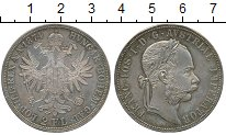 Изображение Монеты Австрия 2 флорина 1874 Серебро XF+