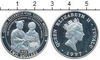 Изображение Монеты Тувалу 2 доллара 1997 Серебро Proof-