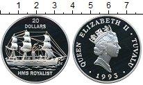 Изображение Монеты Тувалу 20 долларов 1993 Серебро Proof-