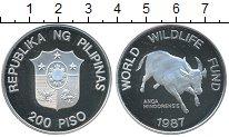 Изображение Монеты Филиппины 200 писо 1987 Серебро Proof-