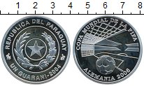 Изображение Монеты Парагвай 1 гуарани 2004 Серебро Proof-