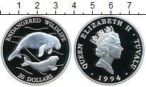 Изображение Монеты Тувалу 20 долларов 1994 Серебро Proof-