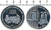 Изображение Монеты Камерун 1000 франков 2004 Серебро Proof-