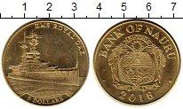 Изображение Монеты Науру 5 долларов 2016 Латунь XF
