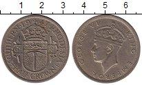 Изображение Монеты Великобритания Родезия 1/2 кроны 1947 Медно-никель VF