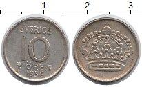 Изображение Монеты Швеция 10 эре 1956 Серебро XF