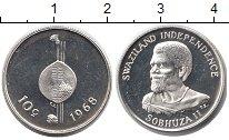 Изображение Монеты Свазиленд 10 центов 1968 Серебро Proof-
