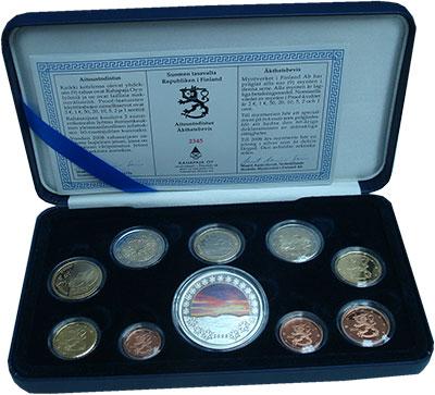 Изображение Подарочные монеты Финляндия Набор 2008 года 2008  Proof В набор входят восем
