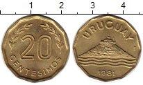 Изображение Монеты Уругвай 20 сентесим 1981 Латунь UNC-