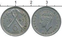 Изображение Монеты Родезия 6 пенсов 1947 Медно-никель XF