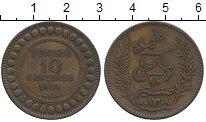 Изображение Монеты Тунис 10 сантим 1891 Медь XF-