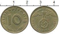 Изображение Монеты Германия Третий Рейх 10 пфеннигов 1938 Латунь XF