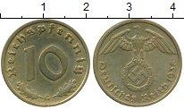 Изображение Монеты Третий Рейх 10 пфеннигов 1938 Латунь XF